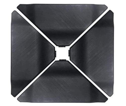 Abba Patio 4Pcs Offset Umbrella Base Plastic Cantilever Base Weights Plate Set 150-180 lb