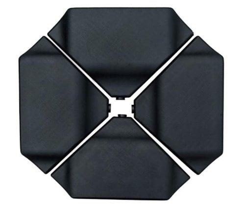 Abba Patio 4Pcs Offset Umbrella Base Plastic Cantilever Base Weights Plate Set