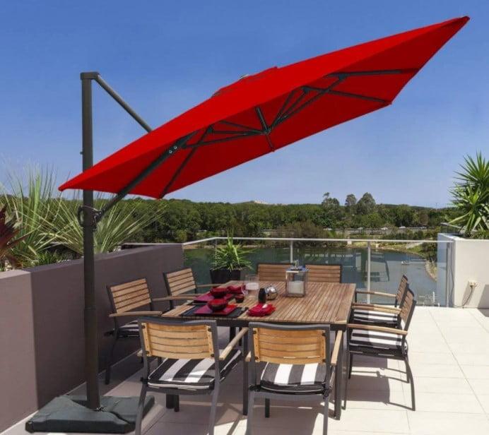 Abba Patio 8 x 10 Feet Rectangular Offset Cantilever Umbrella