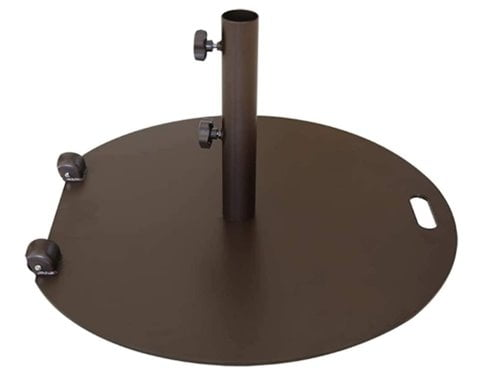 Abba Patio Round Steel Umbrella Base Stand with Wheels 55 lbs