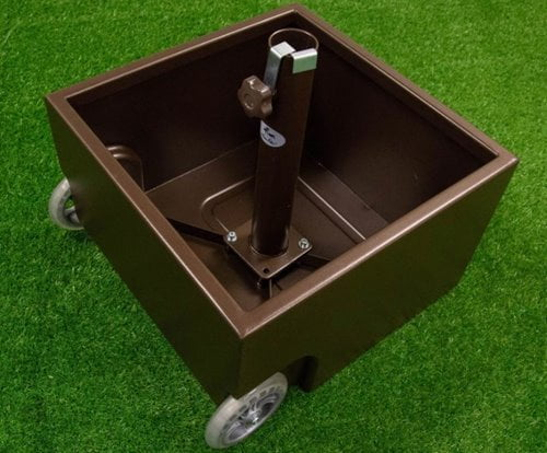Abba Patio Steel Patio Umbrella Stand Planter with Two Wheels
