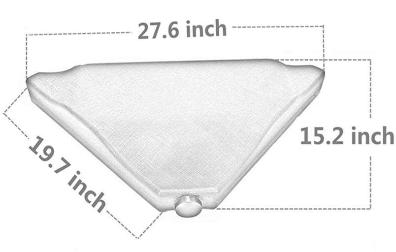 B00Y7TZQUY Abba Patio Cantilever Umbrella base- 4 plates dimensions stand
