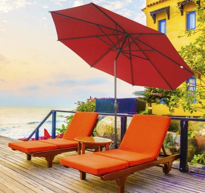 Abba Patio 11 Feet Market Umbrella with Push Button Tilt and Crank 8 Ribs Review