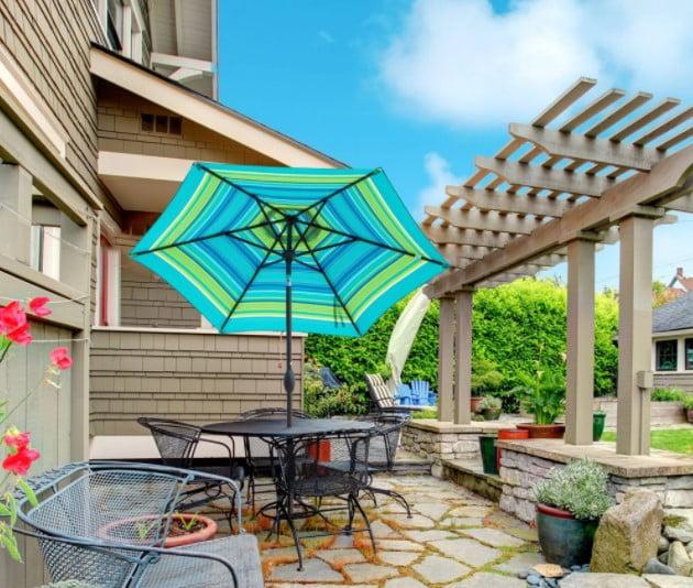 Abba Patio 7.5 Feet Striped Market Umbrella