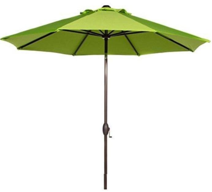 Abba Patio 9 Feet Market Umbrella with Auto Tilt and Crank (8 Ribs)