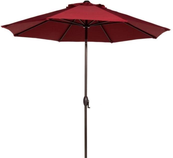 Abba Patio 9 Feet Patio Market Table Umbrella with Push Button Tilt and Crank (8 ribs) Review