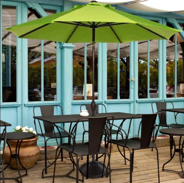Abba Patio Sunbrella 9 Feet Patio Market Table Umbrella with Push Button Tilt and Crank