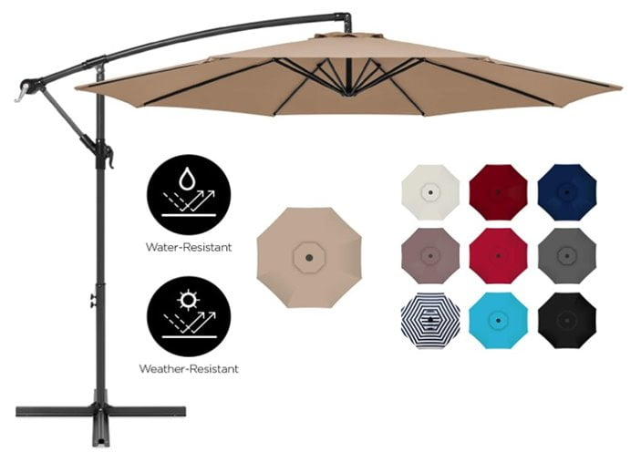 Best Choice Products 10ft Offset Hanging Patio Umbrella