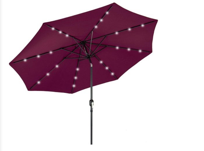 Best Choice Products 10ft Solar LED Lighted Market Patio Umbrella