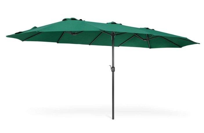 Best Choice Products 15x9ft Rectangular Twin Market Patio Umbrella