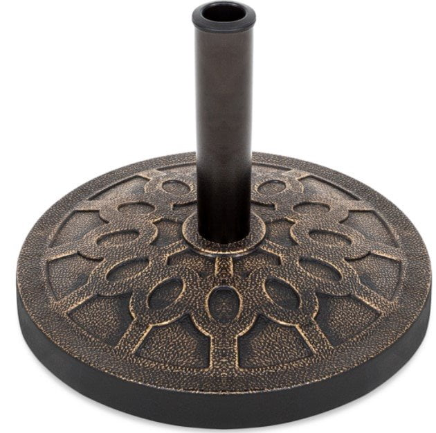 Best Choice Products 18in, 29 lb Round Patio Umbrella Base Stand w Rustic Finish