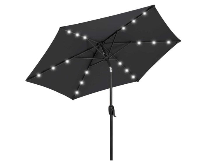 Best Choice Products 7.5ft Outdoor Solar Patio Umbrella