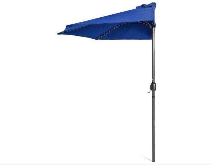 Best Choice Products 9ft Half Market Patio Umbrella w Crank