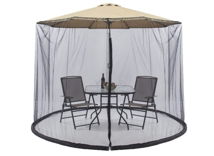 Best Choice Products Bug Net Screen Accessory for 9ft Patio Umbrella w Zippered Door