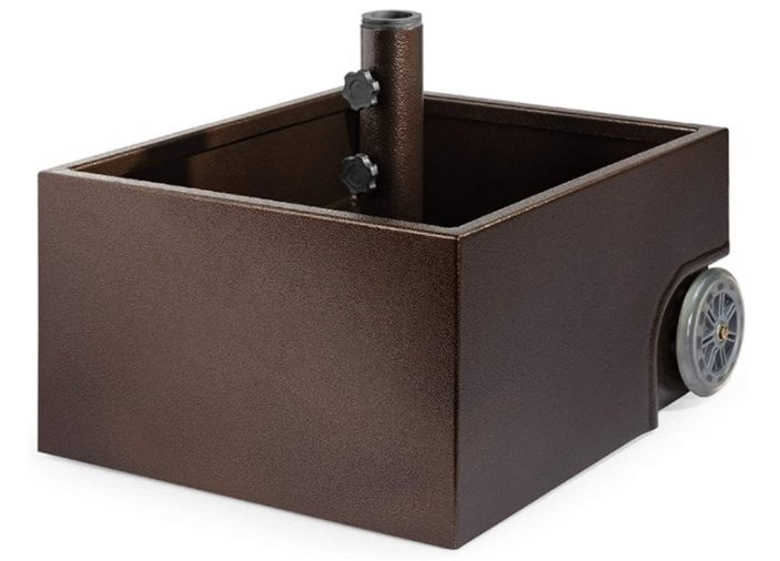Best Choice Products Portable Steel Umbrella Base Stand Up to 150 lbs w Fillable Planter, Wheels