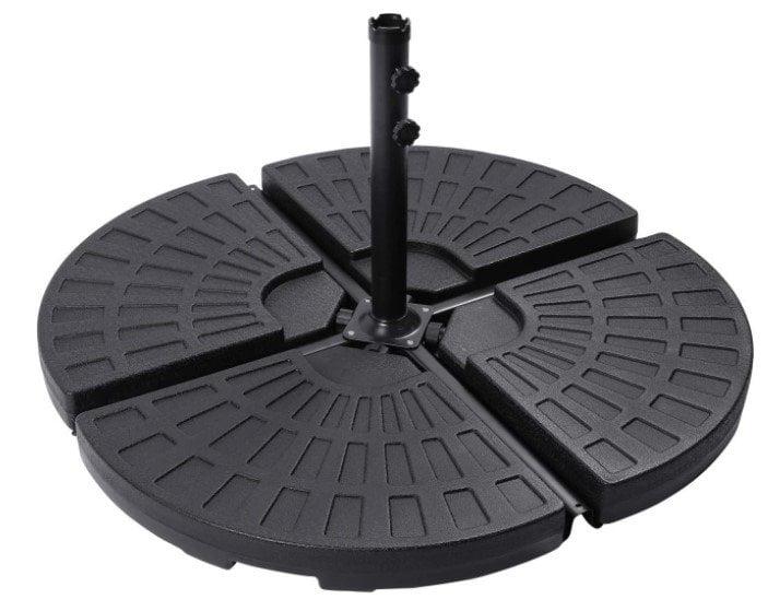 Sunnyglade 18.9″ 4Pcs 13L Fan Shaped Water Sand Filled Cantilever Offset Umbrella Base