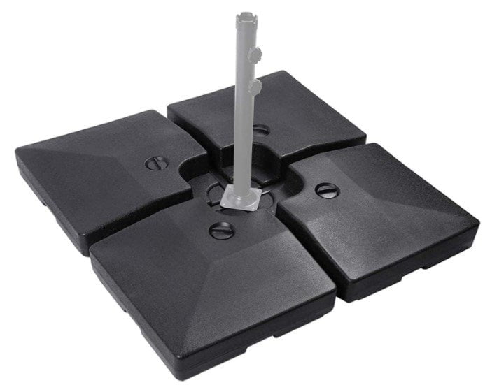 Sunnyglade 4pcs 200lb Square Patio Umbrella Base Stand Water Filled for All Cross Tiles