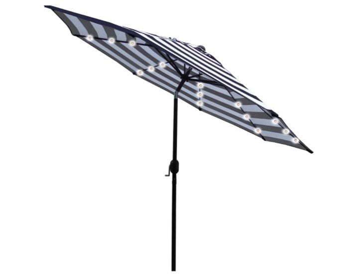 Sunnyglade 9′ Solar 24 LED Lighted Umbrella