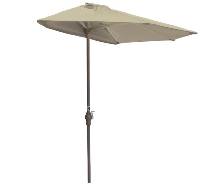 Blue Star Group Off-The-Wall Brella Olefin Half Umbrella, 7.5'-Width, Antique Beige