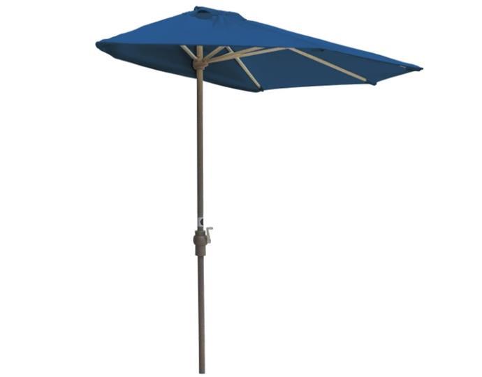Blue Star Group Off-The-Wall Brella Sunbrella Half Umbrella, 9'-Width, Pacific Blue