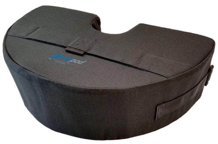 Gravipod Half-Round Umbrella Base Weight Bag - Up to 50 lbs