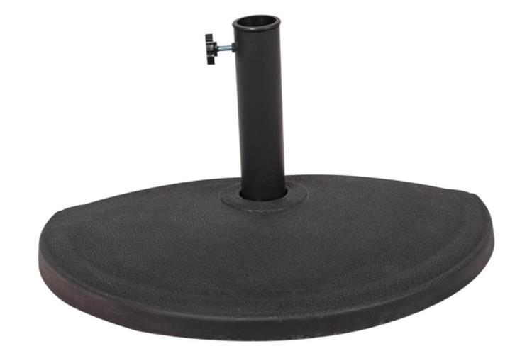 Sundale Outdoor Half Round Resin Umbrella Base for Half Patio Umbrella, Black, 24''L x 12''W x 13.8''H, 33 lbs