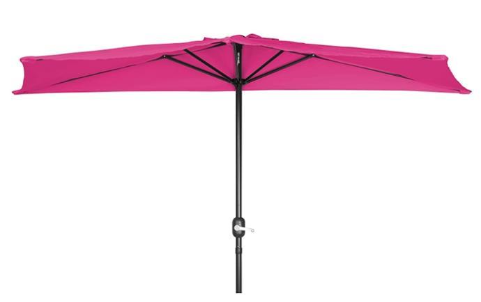 Trademark Innovations PATUMB TAN Patio Half Umbrella-9' Diameter