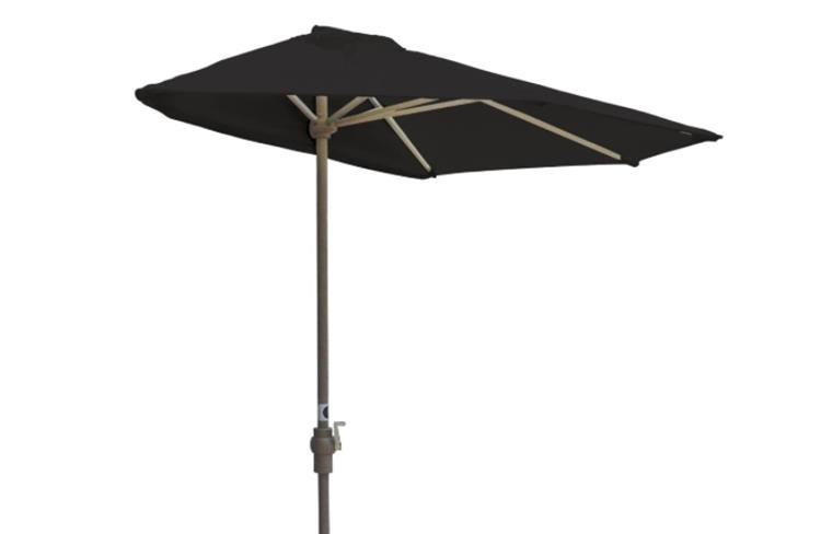 Blue Star Group Off-The-Wall Brella Sunbrella Half Umbrella, 9'-Width, Black