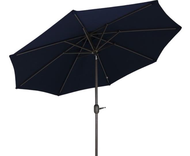 Sunnydaze 9-Foot Aluminum Sunbrella Patio Umbrella with Auto Tilt and Crank