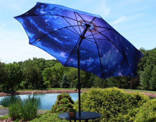 Sunnydaze Market Outdoor Patio Umbrella with Modern Design - 8-Foot