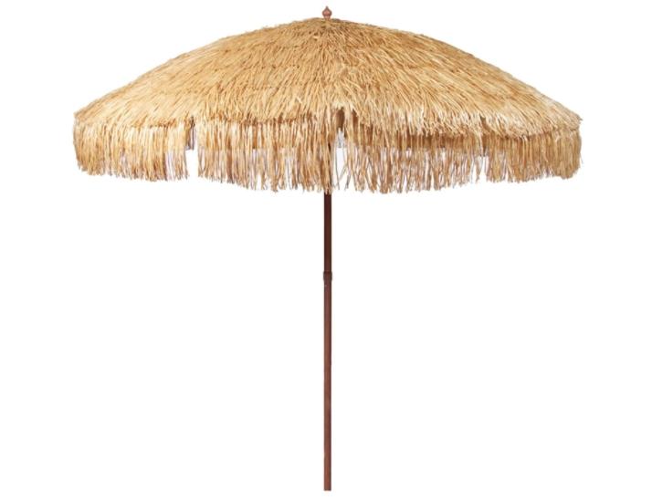 iConcern 6.5 ft. Thatched Patio Tiki Umbrella with Tilt - Tropical Palapa Raffia Tiki Hut Hawaiian Hula Beach Umbrella, Including Portable Fabric Carry Bag.