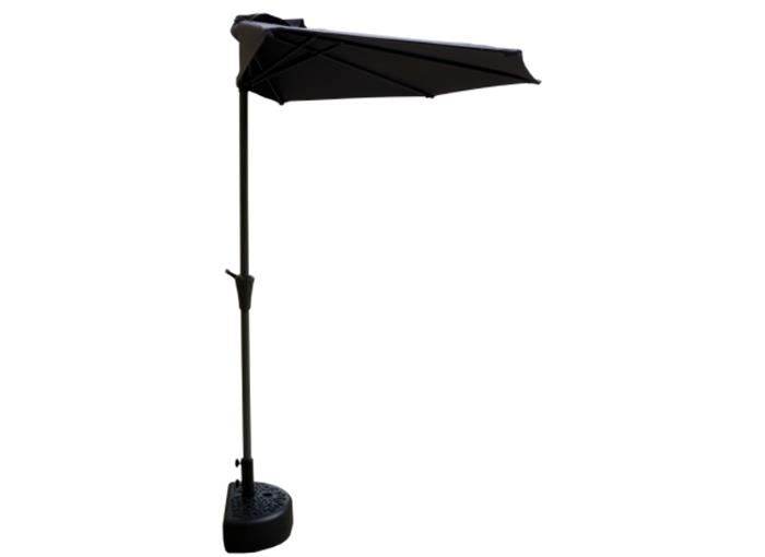 Coolaroo Airlie 2.7m Half-Round Market Umbrella with Base