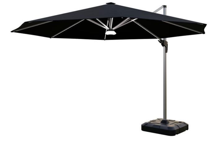 Coolaroo Brighton 3.5m Round Solar LED Cantilever Umbrella