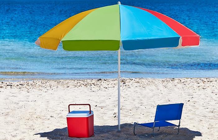 Coolaroo Jumbo 2.3m Round Beach Umbrella