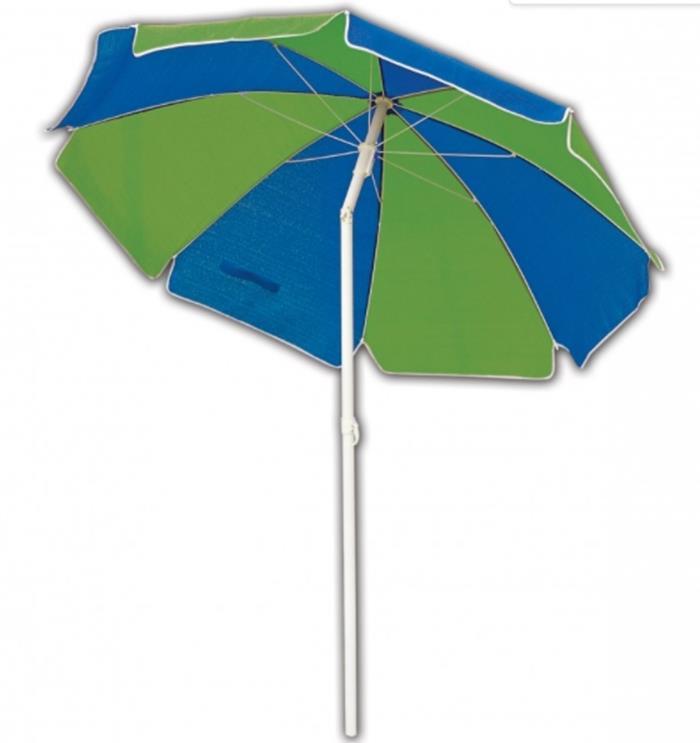 Coolaroo beach umbrella - Blue Green