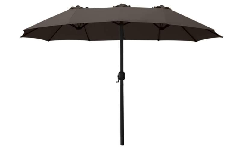 ABCCANOPY 15FT Double-Sided Aluminum Table Patio Umbrella Garden Large Umbrella
