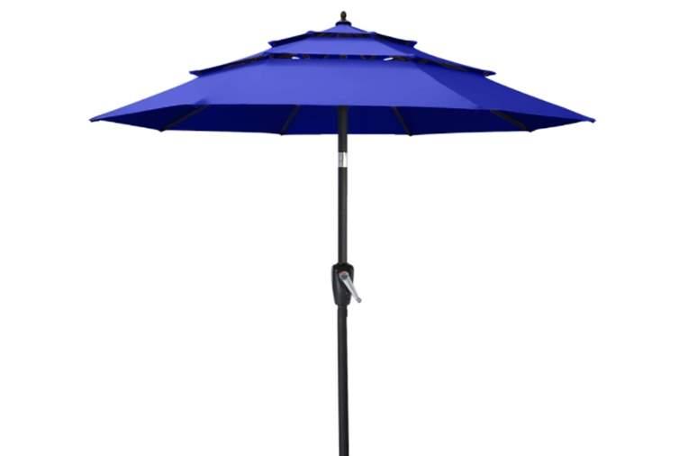 ABCCANOPY 9FT 3 Tiers Market Umbrella Patio Umbrella Outdoor Table Umbrella with Ventilation