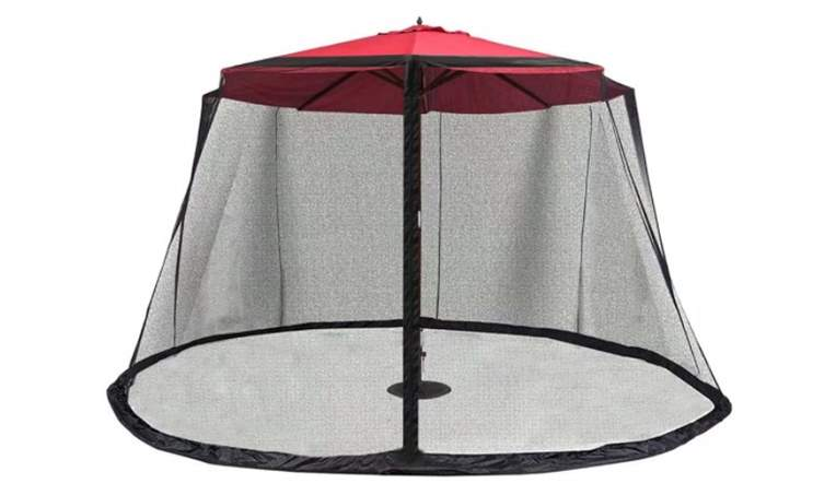 ABCCANOPY Outdoor 9FT Patio Umbrella Table Cover Mosquito Polyester Netting Screen