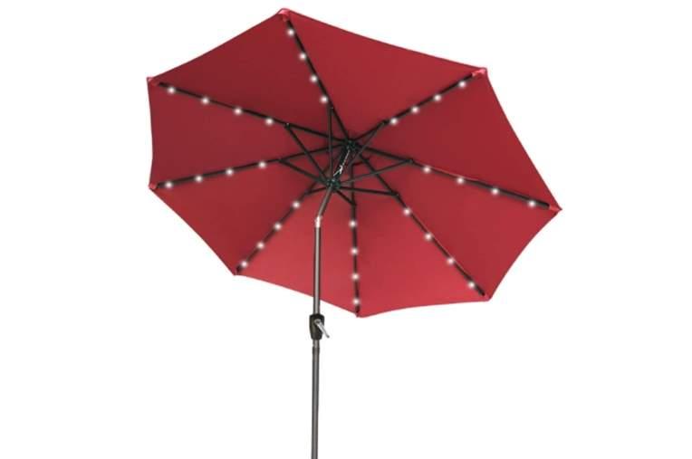 ABCCANOPY Patio Umbrella Ourdoor Solar Umbrella LED Umbrellas with 32LED Lights