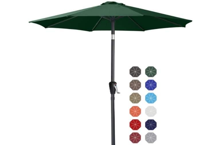 ABCCANOPY Patio Umbrella Table Market Umbrella with Push Button Tilt