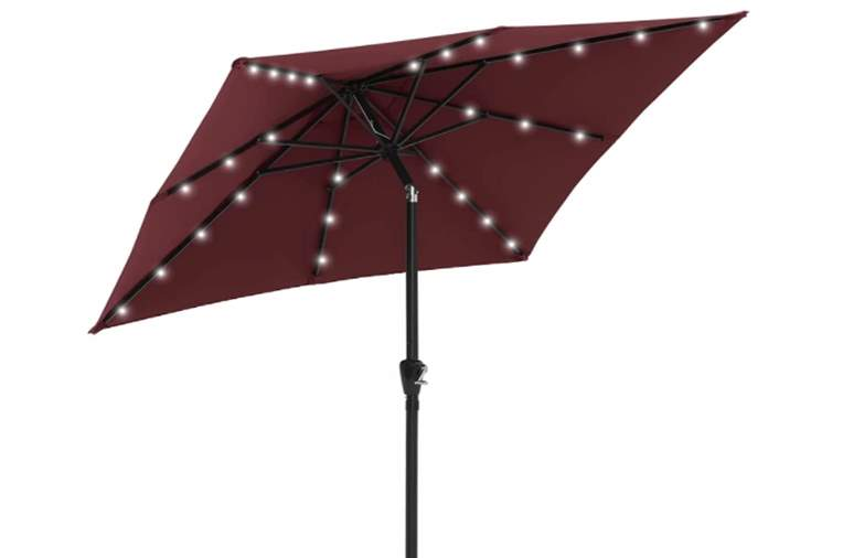 ABCCANOPY Square Solar Powered Patio Umbrella Outdoor Umbrellas