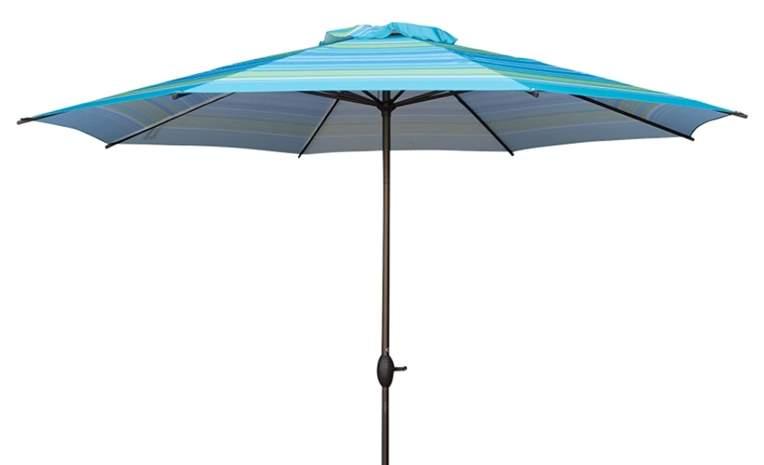 Abba Patio 11-Feet Striped Patio Umbrella Outdoor Table Market Umbrella with Push Button Tilt and Crank
