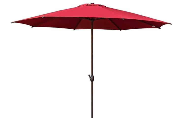 Abba Patio 11ft Patio Umbrella Outdoor Umbrella Patio Market Table Umbrella with Push Button Tilt and Crank