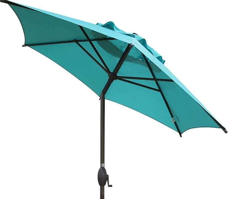 Abba Patio 7.5 ft Patio Umbrella Outdoor Umbrella Patio Market Table Umbrella with Push Button Tilt and Crank