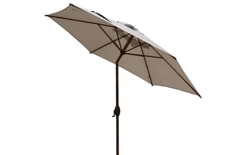 Abba Patio 9 Feet Market Umbrella With Push Button Tilt And Crank