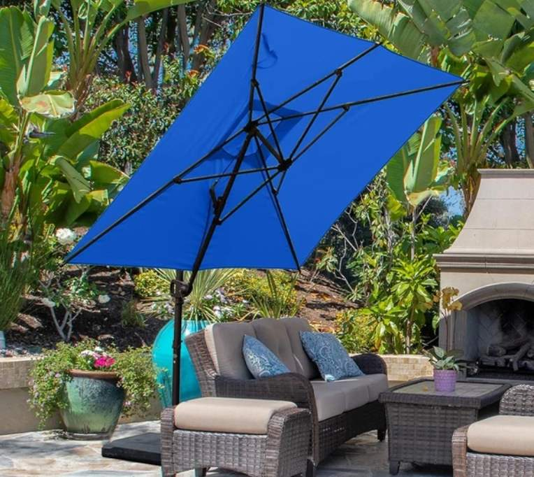 Abba Patio 9 by 7 Feet Rectangular Offset Cantilever Umbrella