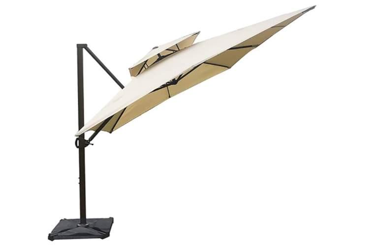 Abba Patio 9 x 12 ft Extra Wide Rectangular Cantilever Umbrella with Easy Tilt & Cross Base