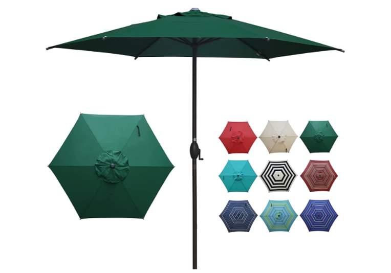 Abba Patio 9ft Patio Umbrella Outdoor Umbrella Patio Market Table Umbrella with Push Button Tilt and Crank