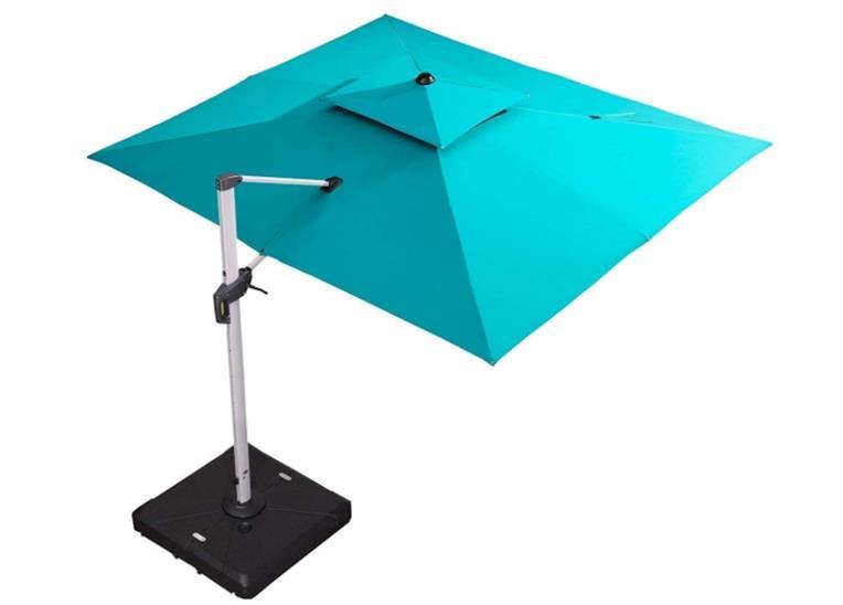 Purple Leaf Rectangle10' X 13' Cantilever Patio Umbrella Outdoor Umbrella with 360 Degree Rotation