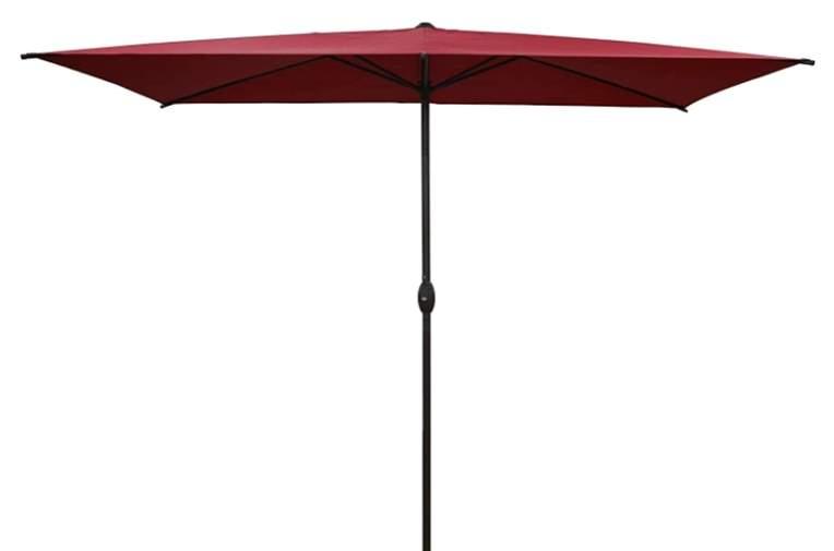 Abba Patio 6.6 by 9.8 Ft Rectangular Patio Umbrella Outdoor Market Table Umbrella